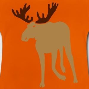 stag deer moose elk antler antlers horn horns cervine hart hunter hunting forest scandinavia sweden norway Kids' Shirts - Baby T-Shirt