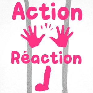 action reaction Tee shirts - Sweat-shirt à capuche Premium pour hommes
