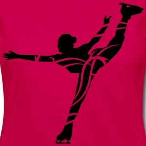 Ice Skating female - Dame premium T-shirt med lange ærmer