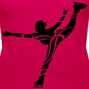 Ice Skating female - Dame Premium tanktop