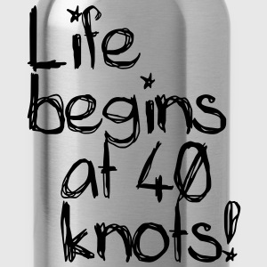 Life begins at 40 knots Tee shirts Enfants - Gourde