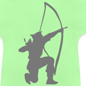 archer longbow kneeling by patjila Barn-T-shirts - Baby-T-shirt