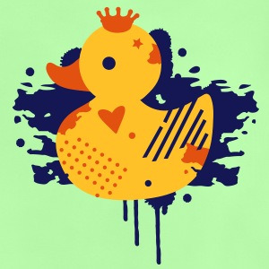 A duck with a crown as a graffiti Kids' Shirts - Baby T-Shirt