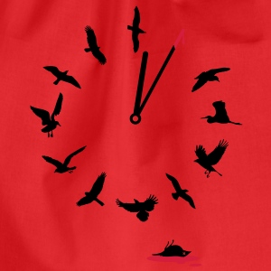 Doomsday Bird Clock T-Shirts - Drawstring Bag