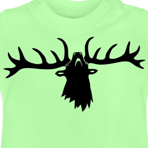 wild stag deer moose elk antler antlers horn horns cervine hart bachelor party night hunter hunting Kids' Shirts - Baby T-Shirt