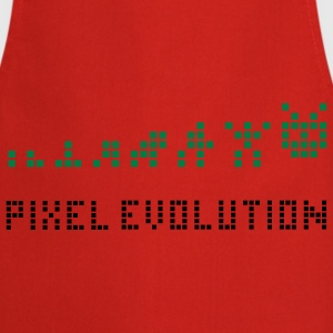 Geel Pixel Evolution Kinder shirts - Keukenschort