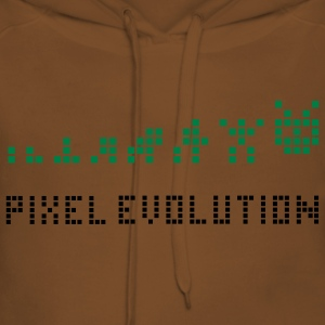 Yellow Pixel Evolution Kids' Shirts - Women's Premium Hoodie