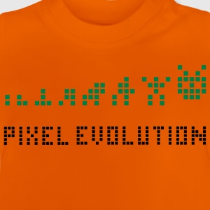 Geel Pixel Evolution Kinder shirts - Baby T-shirt