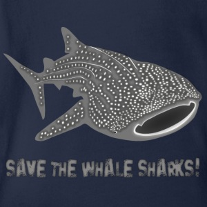 Hval hai  fisk save the whale sharks Barneskjorter - Økologisk kortermet baby-body