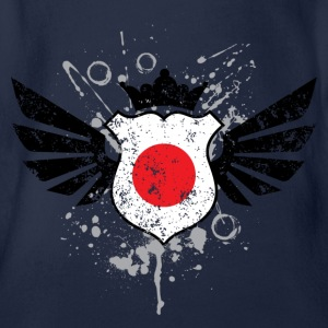 Japan soccer emblem flag Children's T-shirt - Baby Bio-Kurzarm-Body