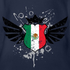 Mexico soccer emblem flag Children's T-shirt - Baby Bio-Kurzarm-Body