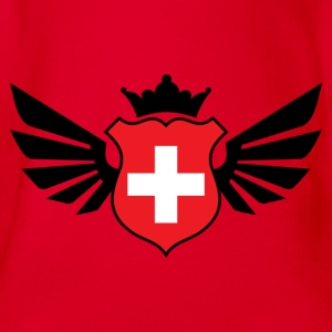 Switzerland soccer emblem flag Children's T-shirt - Baby Bio-Kurzarm-Body