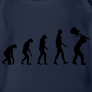 Evolution Rock - Musik Kinder shirts - Baby bio-rompertje met korte mouwen