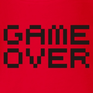 Game over / game over pixels Kids' Shirts - Organic Short-sleeved Baby Bodysuit