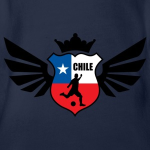 Chile soccer emblem flag Children's T-shirt - Baby Bio-Kurzarm-Body