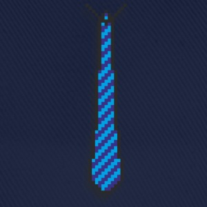 pixel tie blue Kids' Shirts - Baseball Cap