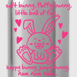 soft bunny, fluffy bunny, little ball of fur... T-shirts - Drikkeflaske