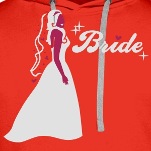 Braut - Bride - Team - Groom T-Shirts - Men's Premium Hoodie