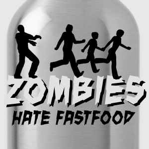 Zombies hate fastfood Tee shirts - Gourde