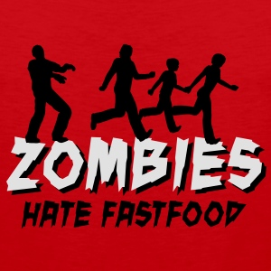 Zombies hate fastfood Tee shirts - Débardeur Premium Homme