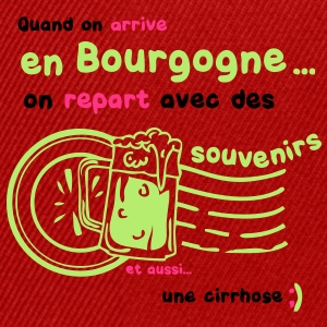 bourgogne souvenirs cirrhose biere tampon alcool Tee shirts - Casquette snapback