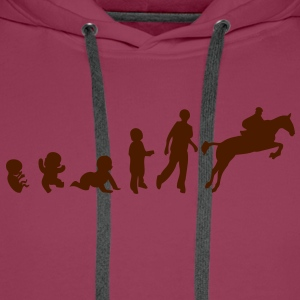 evolution sport cheval saut obstacle2 Tee shirts - Sweat-shirt à capuche Premium pour hommes