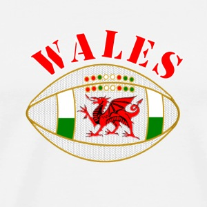 Wales dragon rugby ball Caps & Hats - Men's Premium T-Shirt