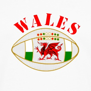 Wales dragon rugby ball Caps & Hats - Men's Premium Longsleeve Shirt