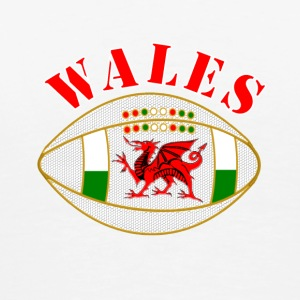 Wales dragon rugby ball - Men's Premium T-Shirt