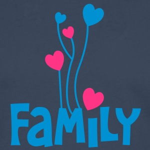 family in type with heat shaped balloons very inspiring T-Shirts - Men's Premium Longsleeve Shirt