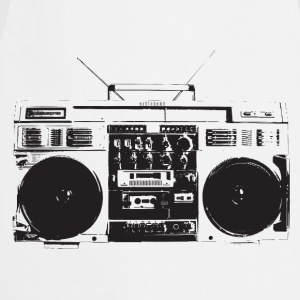Ghetto blaster vintage for oldschool hiphop - Tablier de cuisine