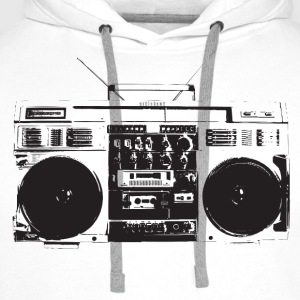 Ghetto blaster vintage for oldschool hiphop T-Shirt - Men's Premium Hoodie