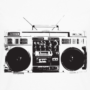 Ghetto blaster vintage for oldschool hiphop - T-shirt manches longues Premium Homme