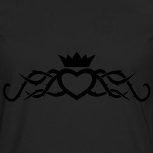 Tribal Heart with Thorns T-Shirts - Men's Premium Longsleeve Shirt