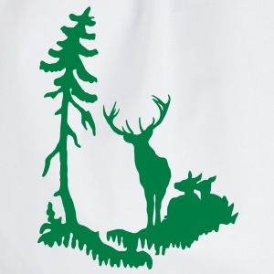 Deer family in Forest  T-Shirts - Drawstring Bag