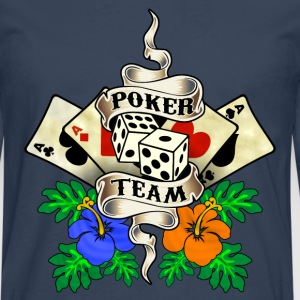 poker team design 1 Tee shirts - T-shirt manches longues Premium Homme