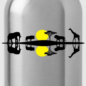 Africa Savanna, African Wildlife - Water Bottle