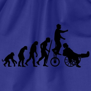 Evolution Theory hals und beinbruch  (circus clown) T-Shirts - Drawstring Bag