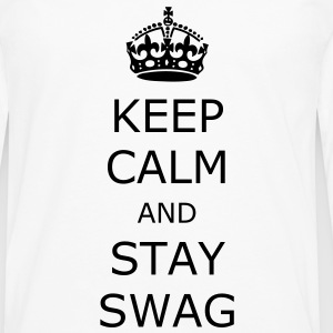 Keep calm and stay swag - Premium langermet T-skjorte for menn