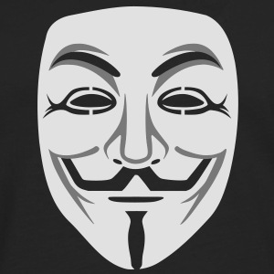 Anonymous / masque de Guy Fawkes 2clr Tee shirts - T-shirt manches longues Premium Homme