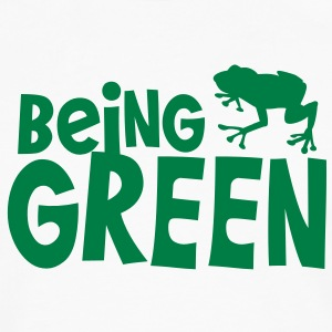 being green with a green tree frog T-Shirts - Men's Premium Longsleeve Shirt