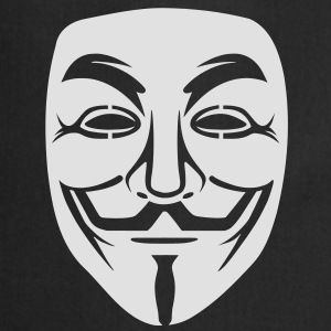 Anonymous / masque de Guy Fawkes 1clr Tee shirts - Tablier de cuisine