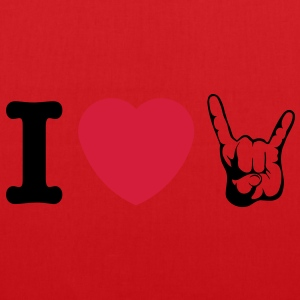I LOVE METAL!!! (Horns) - Tas van stof