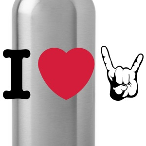 I LOVE METAL!!! (Horns) - Drinkfles
