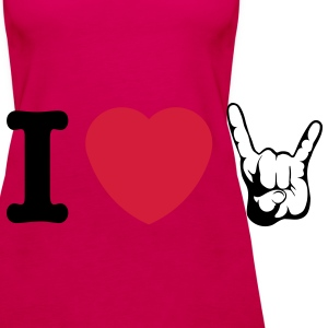 I LOVE METAL!!! (Horns) - Vrouwen Premium tank top