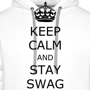 Keep calm and stay swag - Sweat-shirt à capuche Premium pour hommes