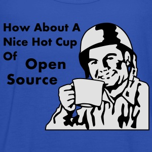 How About A Nice Hot Cup Of OPEN SOURCE Camisetas - Camiseta de tirantes mujer, de Bella