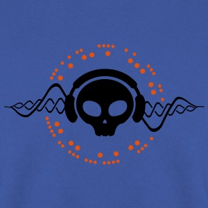 skull headphone T-shirt - Felpa da uomo