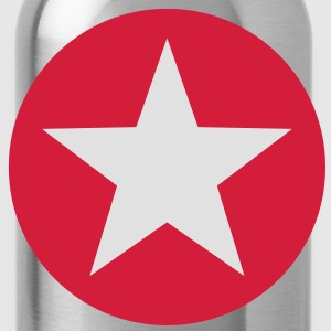 Star Circle Design T-Shirts - Water Bottle