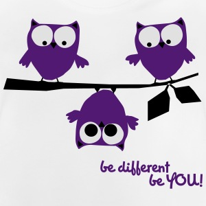 Eulen, lustig, be different, Vogel T-Shirts - Baby T-Shirt